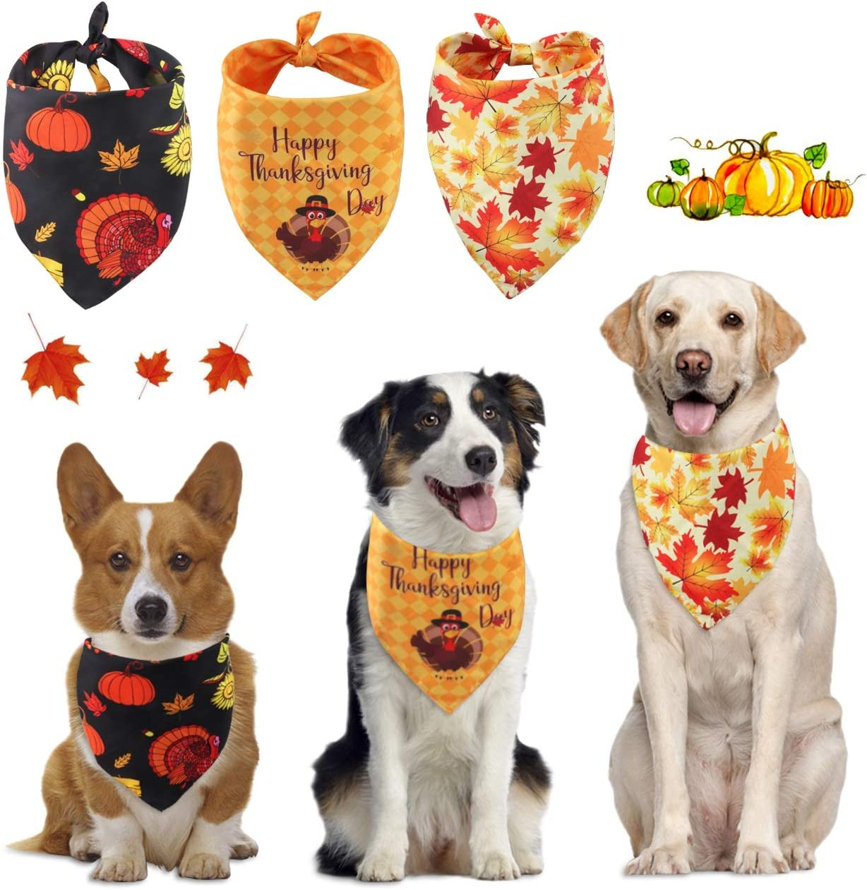 Leaf Pattern Dog Neckerchief Dog Bandana Over the Collar Free Delivery Dog Accessories