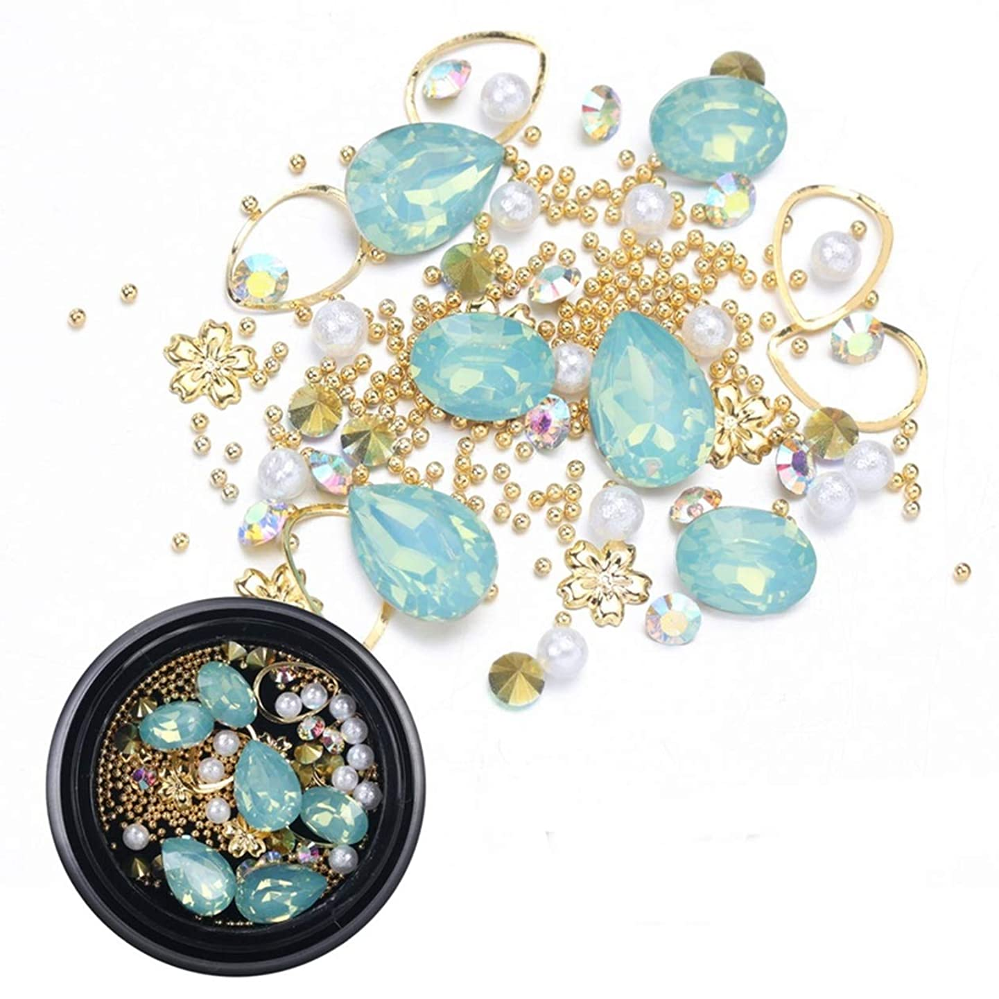 1 Pcs Mixed Shape Opal Resin Studs Nails Art Rhinestone Dazzling Popular Nail Crystals Stones Kit Paint Pen Brush Stickers Decals Tool DIY Foil Star Christmas Decor Gel Girls Tips, Type-12