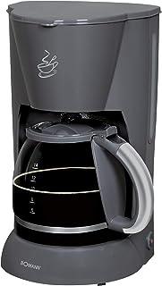 Bomann KA 183 CB Kaffeeautomat für 12-14 Tassen Kaffee, ca. 1,5 L Fassungsvolumen, Nachtropfsicherung, grau, 900