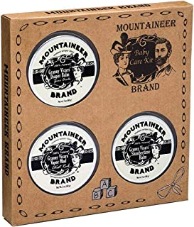 Baby Balm Care Kit by Mountaineer Brand | All-Natural | Soothing Diaper Rash Balm | Nighttime Calming Massage | Congestion...