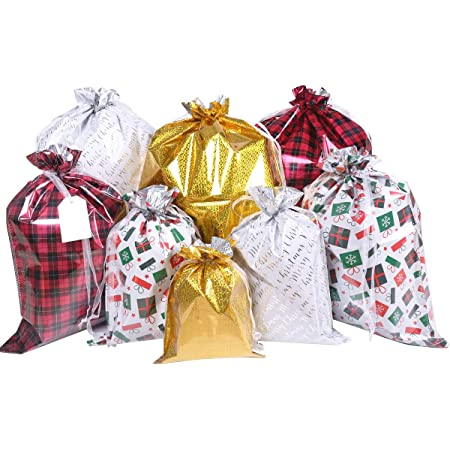 30PCS//Set Christmas Gift Bags Colorful Goodie wrapping Foil Bags Gift Bags