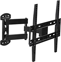 Mount-It! Full Motion TV Wall Mount Corner Bracket, VESA 400 x 400 Compatible, Extending Arm Articulating, Swivel, Tilt Fits 32, 37, 40, 42, 47, 50 Inch TVs, 66 Lbs Capacity Black