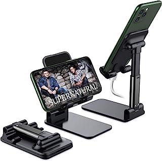 Yostyle Soporte para Teléfono Móvil Ajustable Soporte para Celular Plegable Soporte para Tableta con Base Antideslizante E...