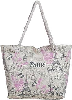 Paris Drawstring Bag Paris Tote Bag France Tote Paris Market Tote Eiffel Tower Tote Bag Pink Blue Paris Girl art French Tote White