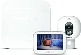 "Angelcare Baby Monitor with 4.3"" Touchscreen Display and Wireless Breathing Sensor Pad (AC417)"