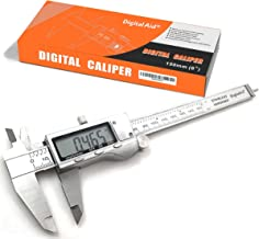 Stainless Steel Digital Caliper measuring device for inside, outside, depth and step measurements. Zero at any Position. Digital Vernier Caliper.