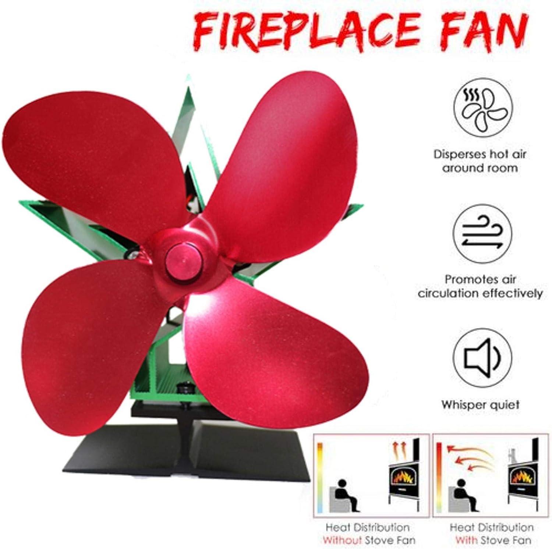 pologyase Heat Powered Stove Fan for Wood/Log Burner/Fireplace ...