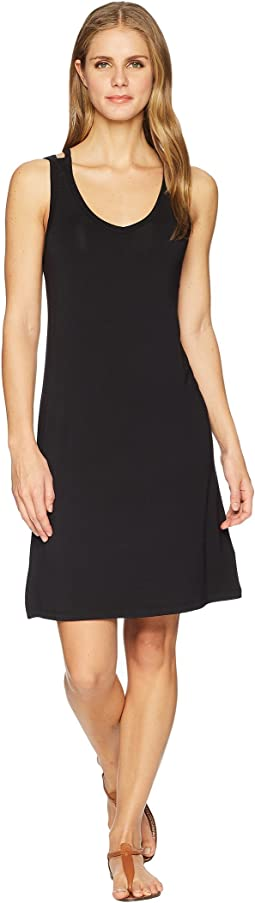 Solid Jersey Strappy Back Sleeveless Dress