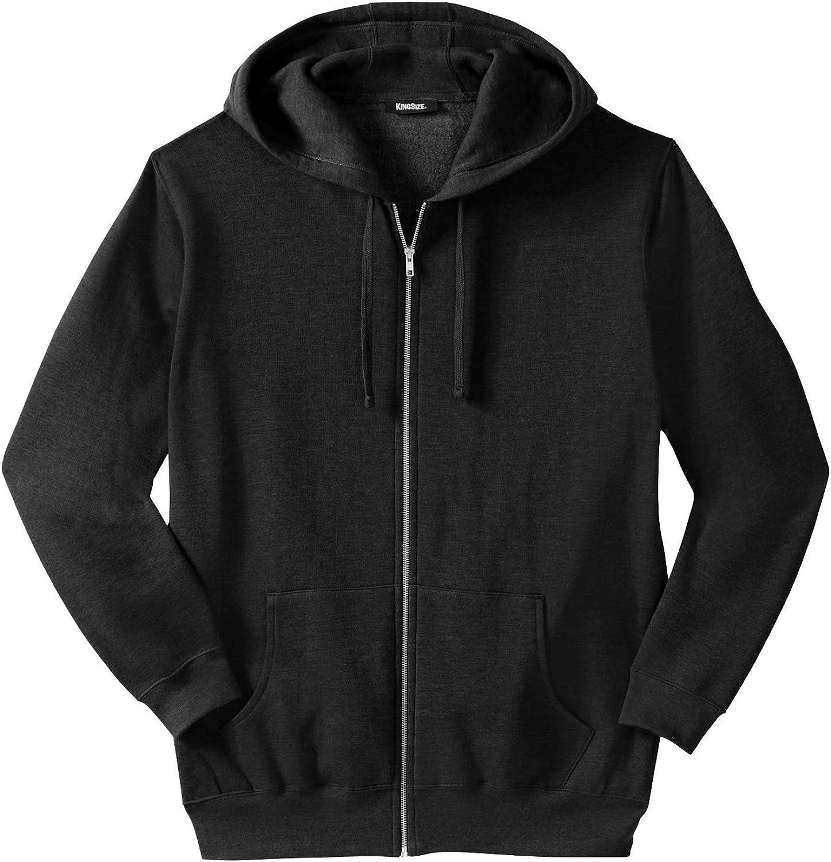 KingSize Men's Big Tall Fleece Zip-Front Ranking Max 48% OFF TOP4 Hoodie Jacket