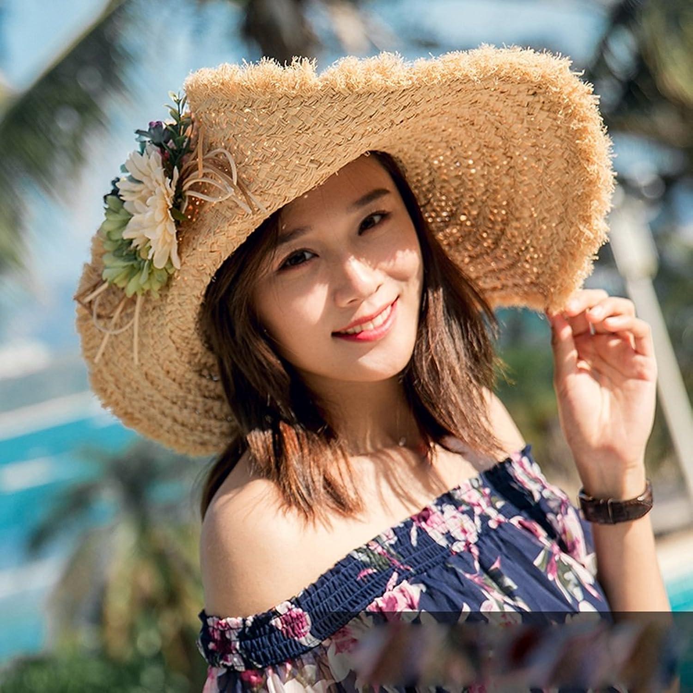 Chunlan Sun Hat Straw Hat Female Summer Seaside Sun Hat Vacation Holiday Beach Hat