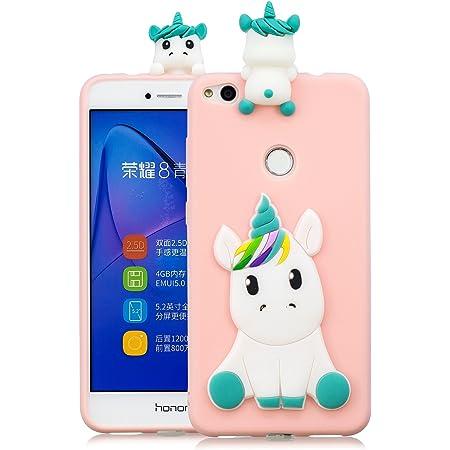 MoEvn Cover Huawei P8 Lite 2017 Custodia, Unicorno 3D Glitter ...