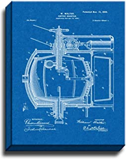 Coffee Roaster Patent Art Gallery Wrapped Canvas Print Blueprint (24