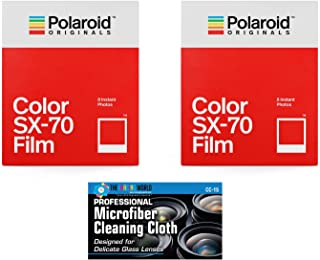 Impossible/Polaroid Color Glossy Film for Polaroid SX70 Cameras - 2 Pack