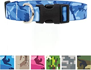 Buttonsmith Camo Dog Collar - Fadeproof Printing, Military Grade Buckle - Made in The USA