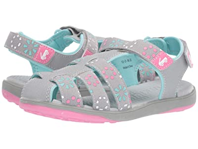See Kai Run Kids Paley II Webbing (Little Kid/Big Kid) (Grey/Pink) Girl