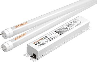 SYLVANIA Ultra HE LED T8 Retrofit Kit / Two Lamp LED Tubes replacing 4-Feet Fluorescent (T12 or T8) / Medium bi-pin base G13 / 19 Watt / 3000K – soft white