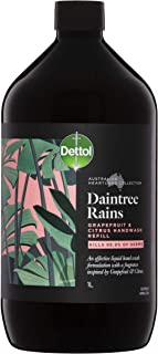 Dettol Australian Heartland Collection Daintree Rains Grapefruit & Citrus Liquid Hand Wash Refill, 1 liters
