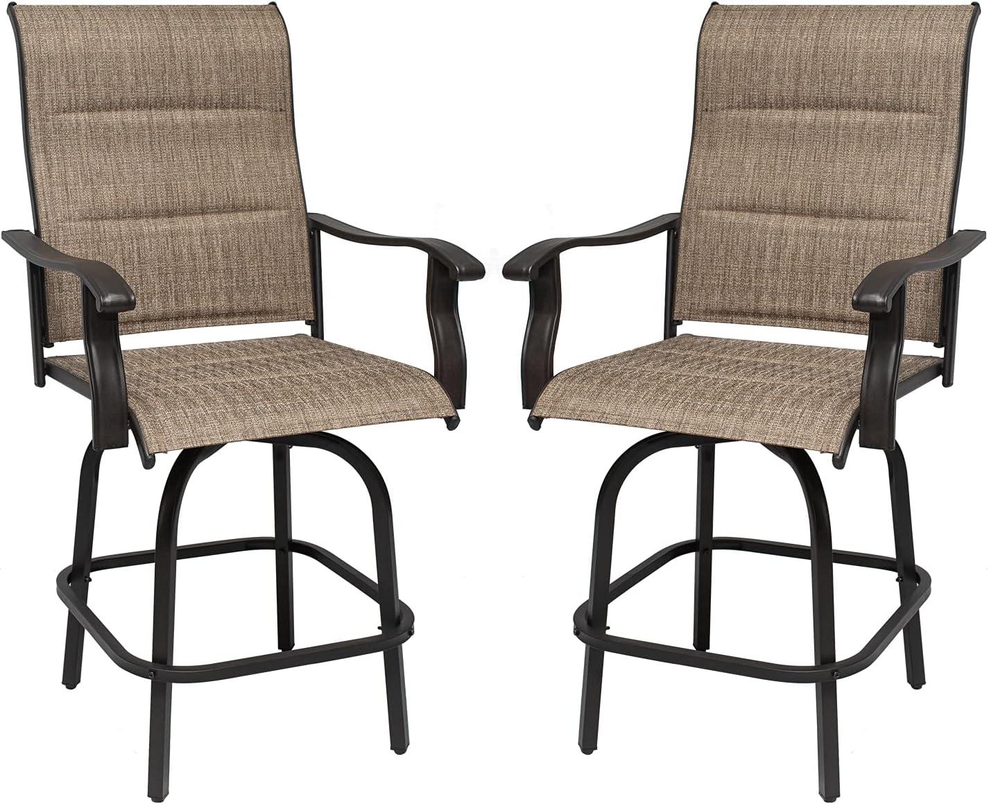 Outdoor Swivel Bar Stools 2 Popularity Pcs Furniture Set Hei Patio Bistro Ranking TOP6