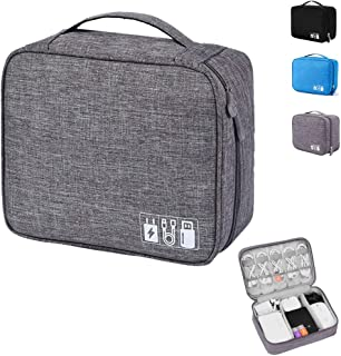 Emoly Electronic Organizer Travel, Universal Waterproof Carrying Case Cable Organizer Electronics Accessories Cases for US...