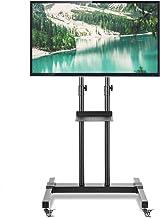 RFIVER Soporte TV con Ruedas de Suelo Carro Movil para Televisión de 32 a 70 Pulgadas con Altura Ajustable Inclinable MT1001