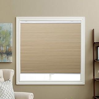 "SBARTAR Cellular Shades Cordless Blackout Honeycomb Blinds Fabric Window Blinds 27"" W x 64"" H, Ivory Beige(Blackout)"