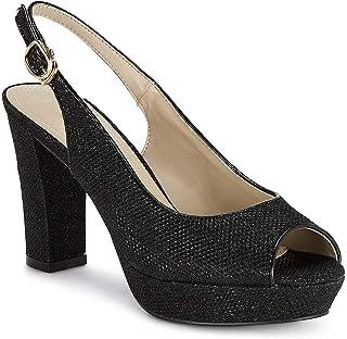 Ceriz Women's Esmée Black Peep Toes