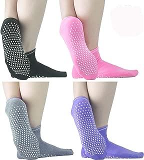 Sticky Grippers Non Skid Socks ELUTONG 1/2/4 Pack Floors Slip Socks For/Men/Women