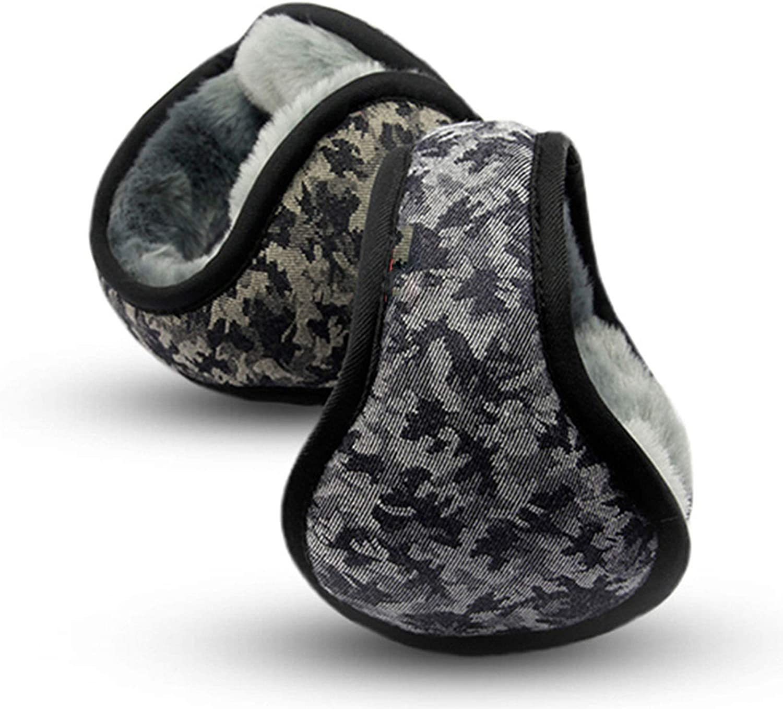 BAIZAN Camouflage Men's Warm Earmuffs,Outdoor Ear Warmer Folding Ear Protectors,Adjustable Anti-Freeze Crack Bracket