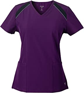 Superflex Activewear Stretch Scrub Top with Reflective Piping Detail