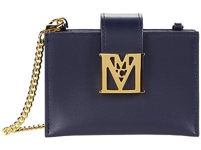 MCM Mena Card Case Mini (Maritime Blue) Handbags