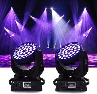 Ridgeyard 36x10W 4 Color RGBW LED Moving Head Beam Stage Light Spotlight Lamp Touch Screen 16CH DMX512 Disco DJ Club Wedding Birthday Christmas Party (2pcs)