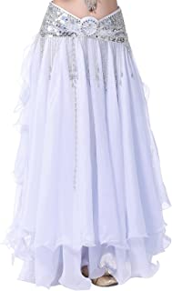 BellyQueen Damen Bauchtanz Kleider Orientalische Kostüme Performance Kleid Outfit Bauchtanzröcke Tanzrock