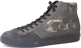 Bottes de sport pour homme à lacets avec fermeture éclair latérale, en cuir de type camouflage, doublure cuir, fond en cao...
