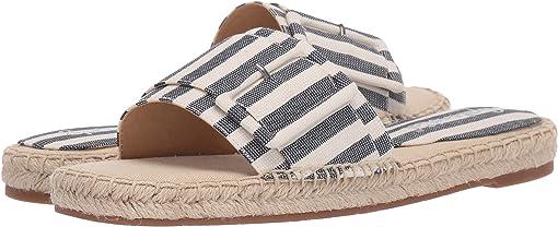 Navy/Narural Striped Fabric