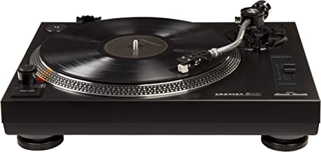 Crosley C200 Direct-Drive Turntable with S-Shaped Tone Arm, Black