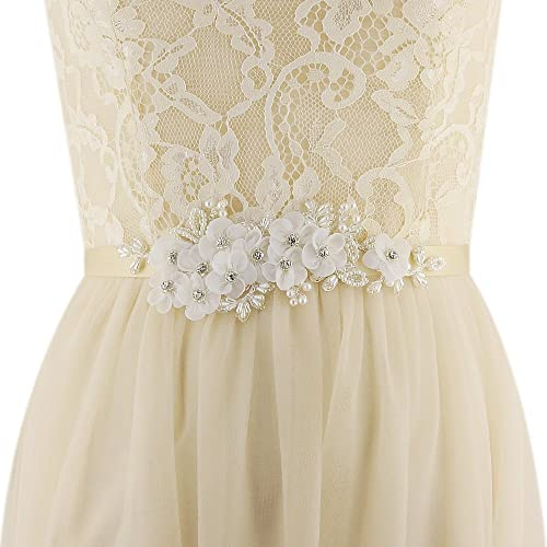 d7723f8ffdc48 Azaleas Women's Floral Wedding Belt Sashes Bridal Sash Belt for Wedding