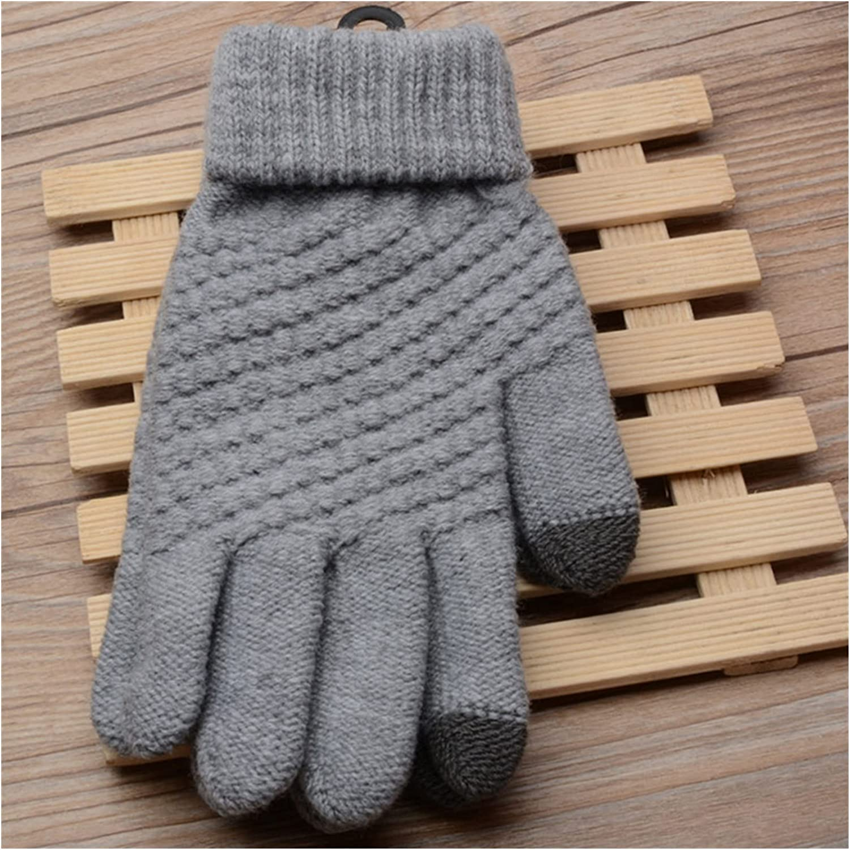 LDDJ Gloves Women Touch Screen Winter Gloves Autumn Warm Gloves Wrist Mittens Driving Ski Windproof Glove luvas guantes handschoenen Keep Warm (Color : Gray Style 4, Gloves Size : One Size)