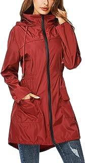 Rain Jacket Windbreaker Women's Lightweight Waterproof Raincoats Packable Active Hooded Trench Coats