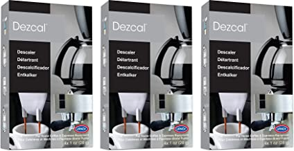 Urnex Dezcal Coffee and Espresso Descaler and Cleaner - 3 Pack - Activated Scale Remover Use with Home Coffee Brewers Espresso Machines Pod Machines Capsule Machines Kettles Garmet Steamers