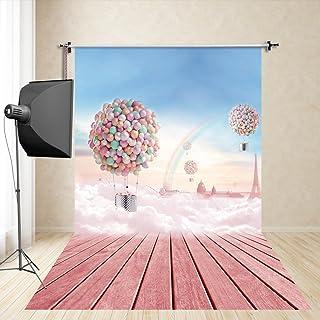FiVan™-Sp 150x250cm globos de color rosa la fiesta de cumpleaños de fondo estudio de fotografía fotografía accesorios niño recién nacido de la tela de seda de imitación de la fotografía FS-959