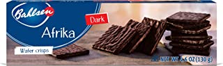 Afrika Dark Chocolate Cookies (2 boxes) by Bahlsen- Wafers covered with European Chocolate - 4.6 oz boxes
