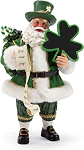 Department 56 Possible Dreams Santa Celtic Holiday Irish Cheer Figurine, 11 Inch, Multicolor