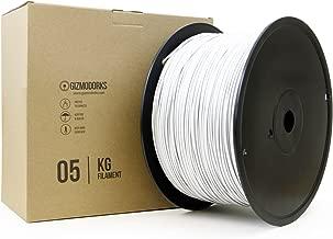 Gizmo Dorks ABS Filament for 3D Printers 3mm (2.85mm) 5kg, White