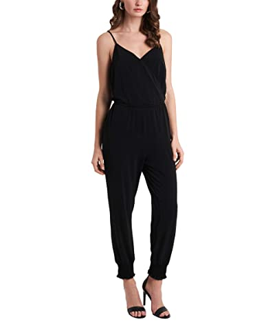 1.STATE Spaghetti Strap Jumpsuit with Smocked Ankles (Rich Black) Women