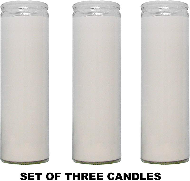 1 X Clear Glass White Paraffin Wax Candles 3 Pack Clear Glass White Wax Candles Novena Vigil Candles 3 Pack
