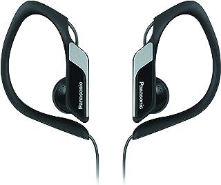 Panasonic Water Resistant Sports Headphone in Ear, Earbud, Earphone, Black, (RP-HS34E-K)