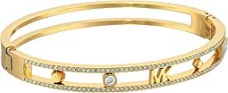 Michael Kors Heritage In Full Bloom Pave Rimmed Bangle with MK Logo