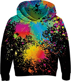 Boys Girls Hoodies 3D Print Fleece Pullover Hooded Sweatshirts with Pockets 3-13 Years