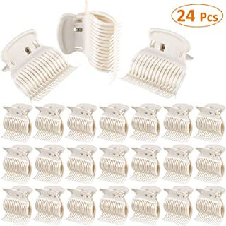 Hot Roller Clips Hair Curler Claw Clips Plastic Hair Rollers for Small, Medium, Large and Jumbo Hair Rollers (24 Packs, Style C)