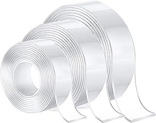 3-delige nano-plakband, nano-dubbelzijdige plakband, duurzame multifunctionele magische plakband, wasbare niet-markerende ...